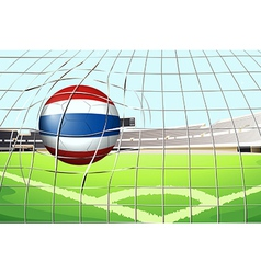 A ball from thailand hitting a score vector