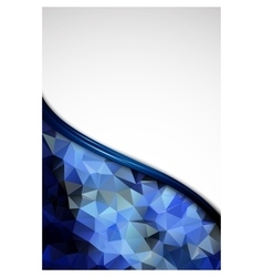 Blue crystal abstract pattern business design vector