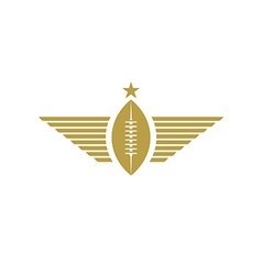 Rugby ball with wings icon american football vector