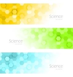 Hexagons banners vector