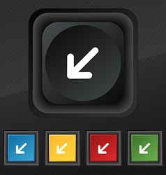 Turn to full screen icon symbol set of five vector