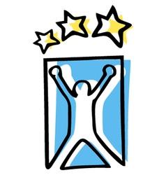 Champion sport symbol vector