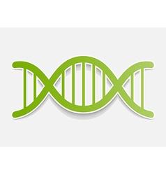 DNA molecule sticker Design element vector image