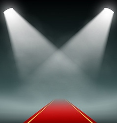 Red carpet illumination projectors vector