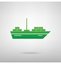 Ship green icon vector