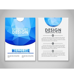 Design flyers and brochures polygonal vector