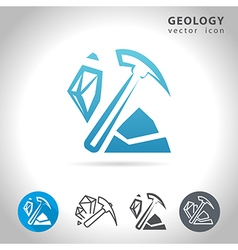 Geology blue icon vector
