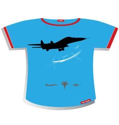 plane T-shirt Design vector image