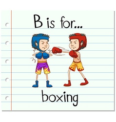 Flashcard letter B is for boxing vector image