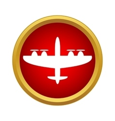 Military aircraft icon simple style vector