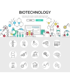 Biotechnology linear concept vector