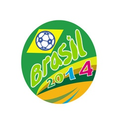 Brasil 2014 soccer football ball oval vector