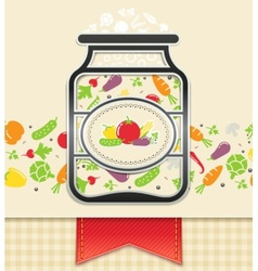 Can with canned vegetables vector