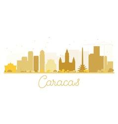 Caracas city skyline golden silhouette vector