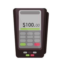 Credit card processing terminal vector
