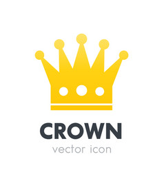 Crown logo element icon on white vector