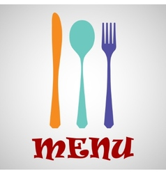 Cutlery menu vector image