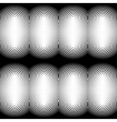 Design seamless monochrome ellipse pattern vector image vector image
