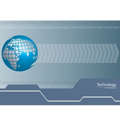 Digital World Technology Background vector image vector image