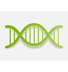 DNA molecule sticker Design element vector image