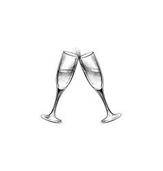 drink champagne sign christmas party icon with vector image vector image