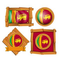Flag of sri lanka in different frames vector