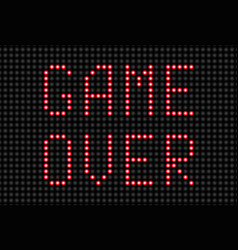 game over message vector image vector image