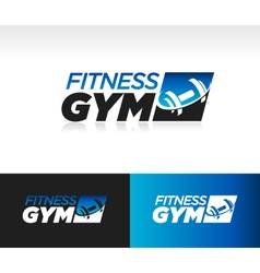 Gym fitness logo icon vector