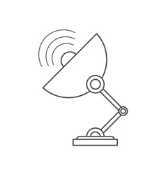 Isolated antenna technology design vector image vector image