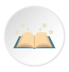 Magic book icon circle vector