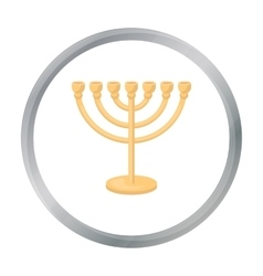 Menorah icon in cartoon style isolated on white vector