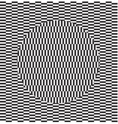 Optical effect geometric tile in menfis vector