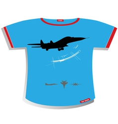 plane T-shirt Design vector image vector image