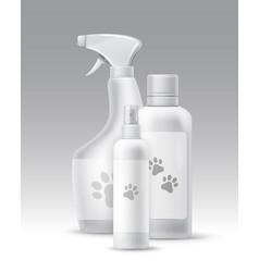 Plastic bottles vector