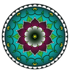 Radial geometric ornament vector image