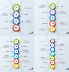 set of timeline business vertical infographic vector image vector image