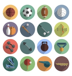 Sport icons set shadow flat vector image vector image
