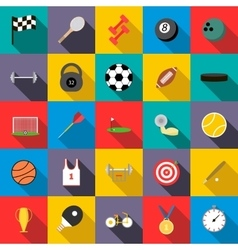 Sports set icons vector image