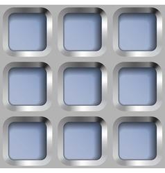 Square Metal Lattice Seamless Pattern vector image