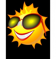 sun in solar glasses vector image