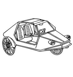 Vintage sport bike vector image vector image