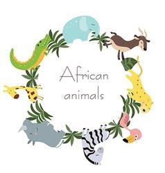 Wild african animals vector