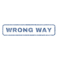 Wrong way textile stamp vector