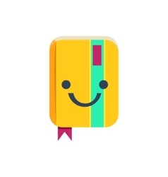 Closed organizer primitive icon with smiley face vector
