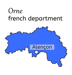 Orne french department map vector