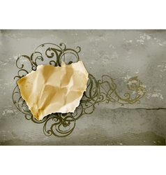 Vintage Frame paper on wall vector image