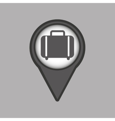 Travel concept location map luggage design graphic vector