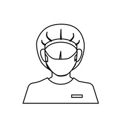 Surgeon avatar character icon vector