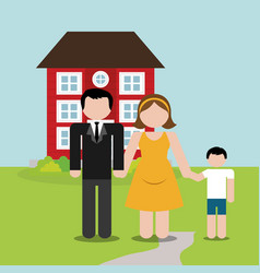 Family home domestic image vector