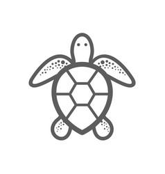 sea turtle outline icon summer vacation vector image